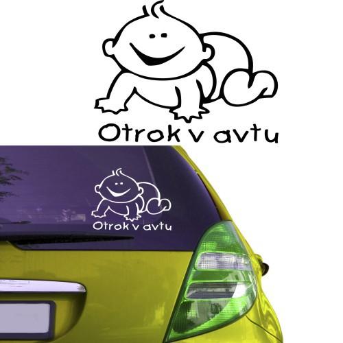 Nalepka za avto - otrok