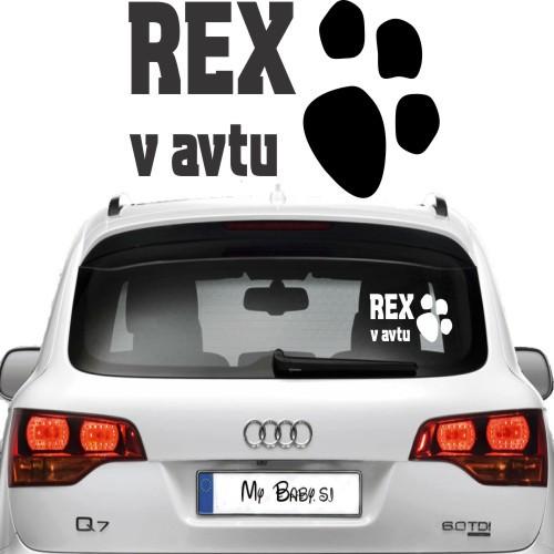Nalepka za avto - pasja tačka