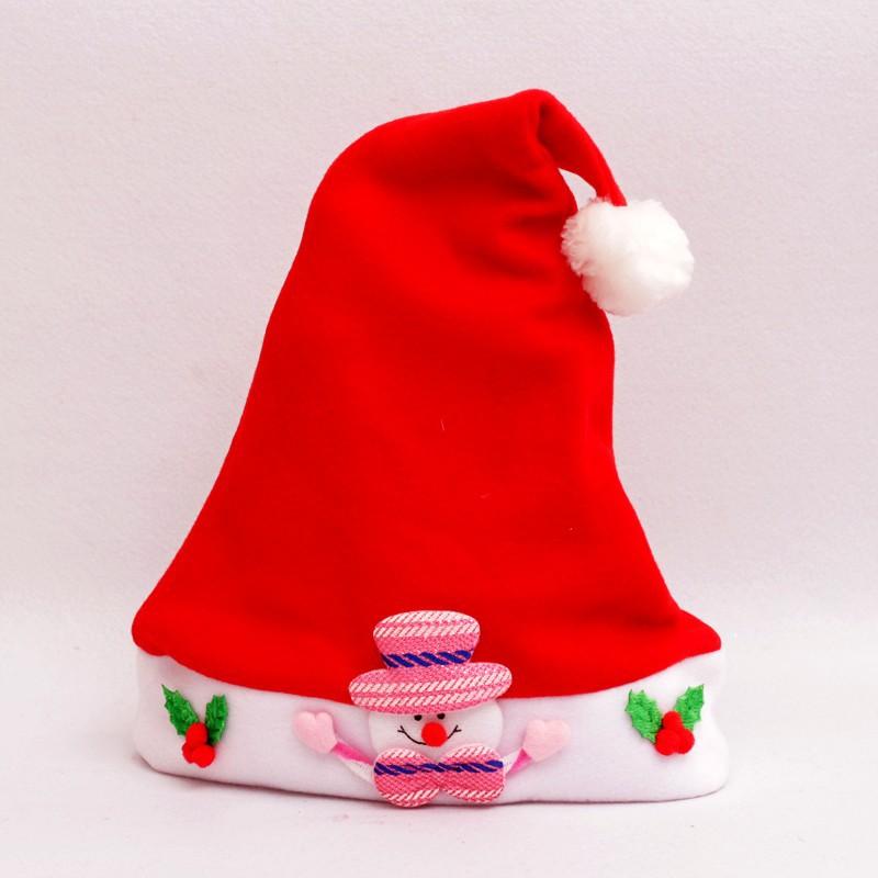 Božičkova otroška kapa snežko