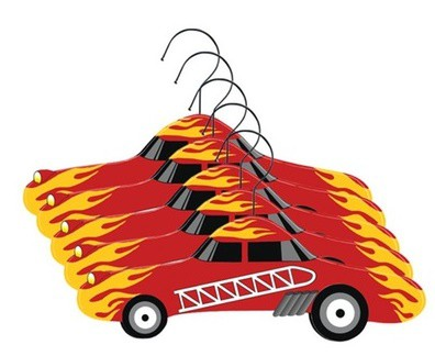 Otroški obešalnik gasilec - set 5 kom
