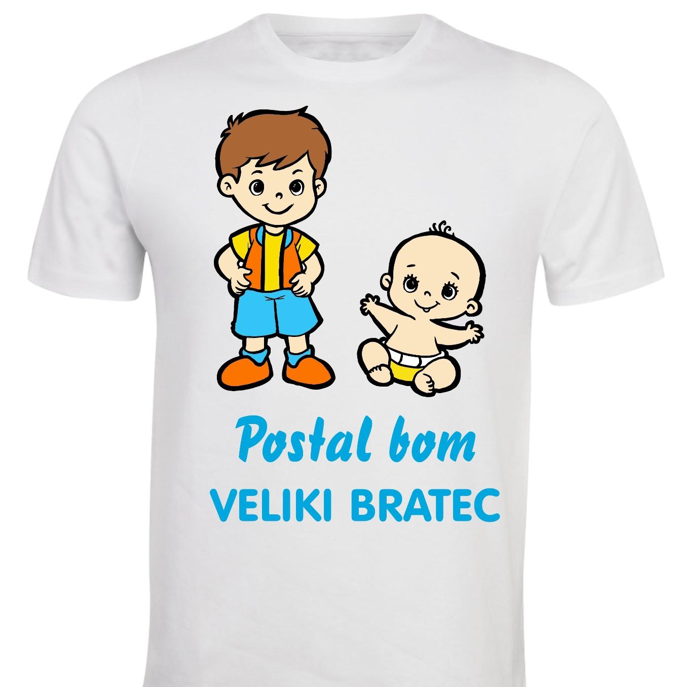 Otroška majica - postal bom veliki bratec 2