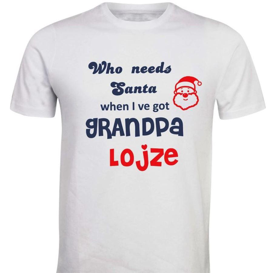Otroška majica - santa dedek