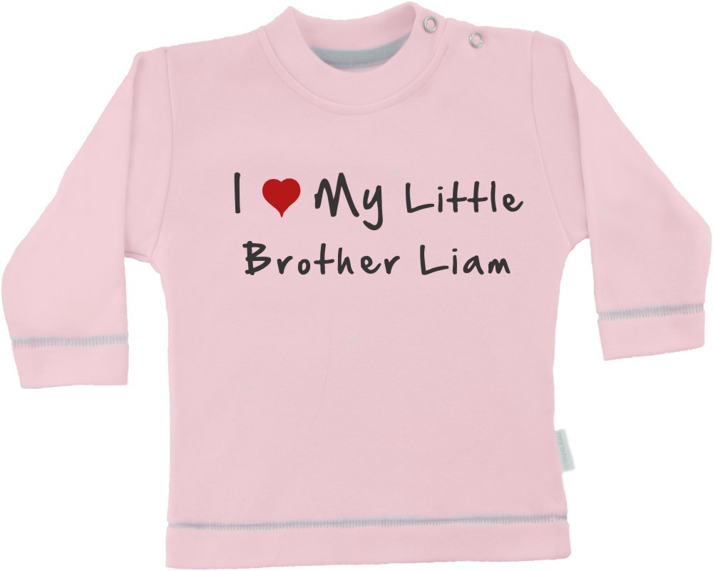 Dolga otroška majica z imenom