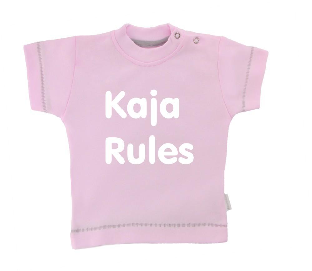 Otroška majica z napisom - Rules