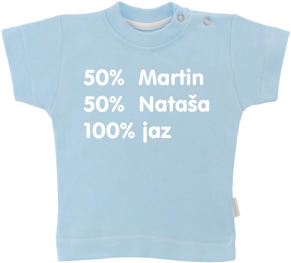 Otroška majica z napisom - 50% mami 50% oči =jaz
