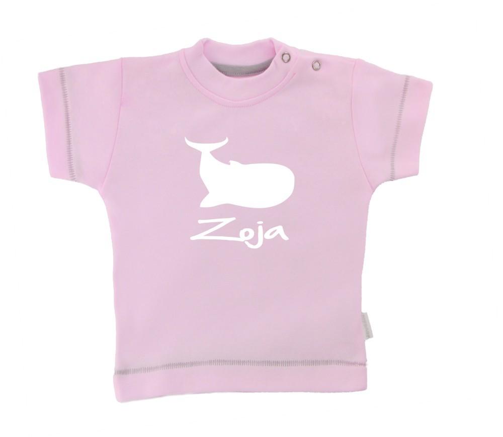 Otroška majica z napisom - kit