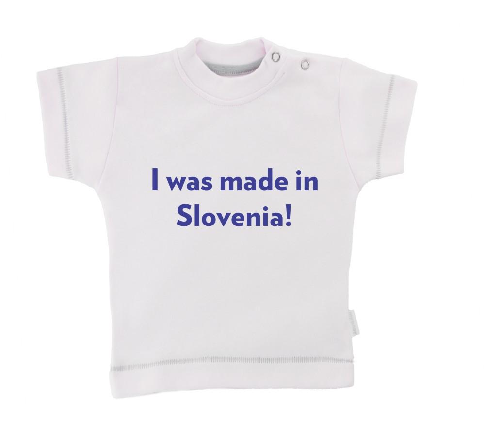 Otroška majica z napisom - Made in Slovenia