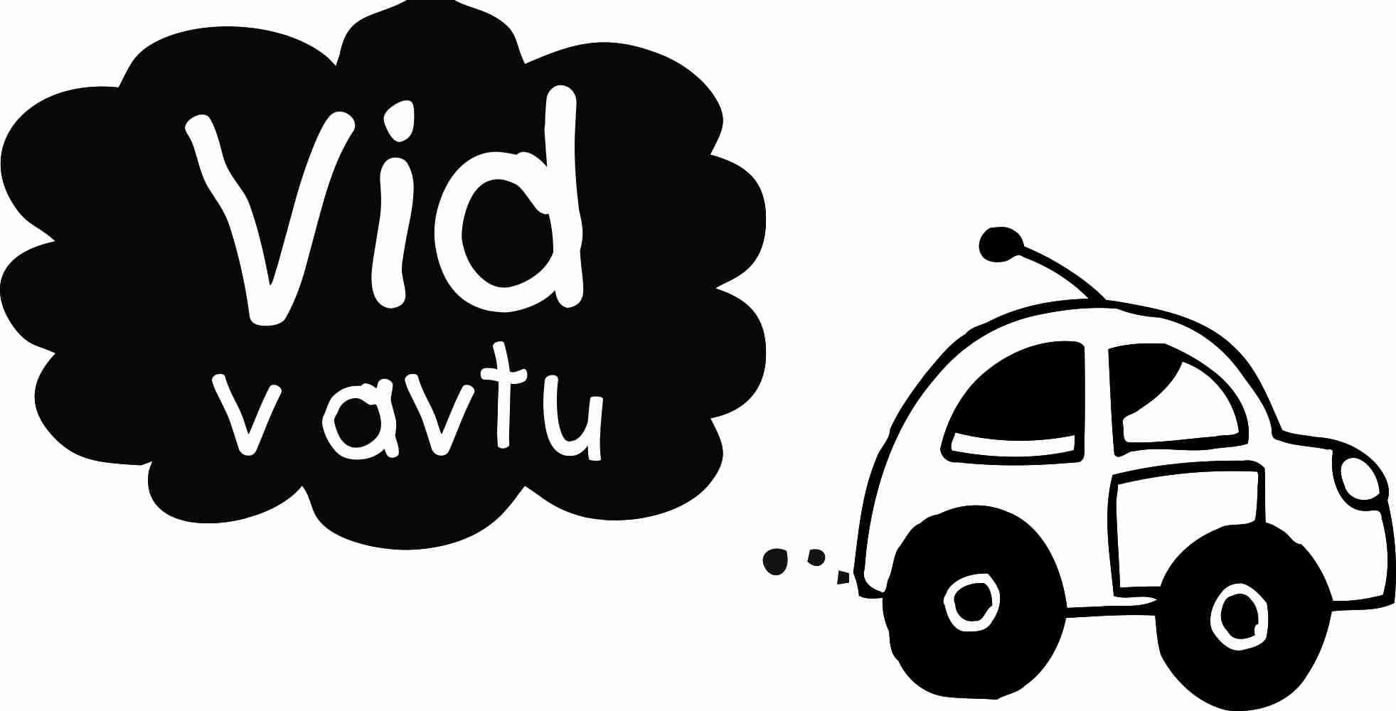 Nalepka za avto - izpušni oblaček - otrok v avtu