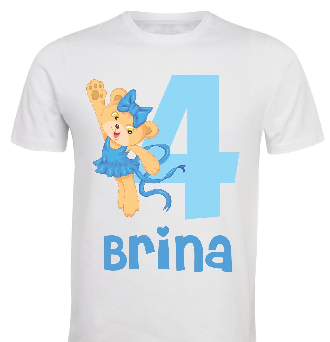 Otroška majica - rojstni dan medvedka pleše