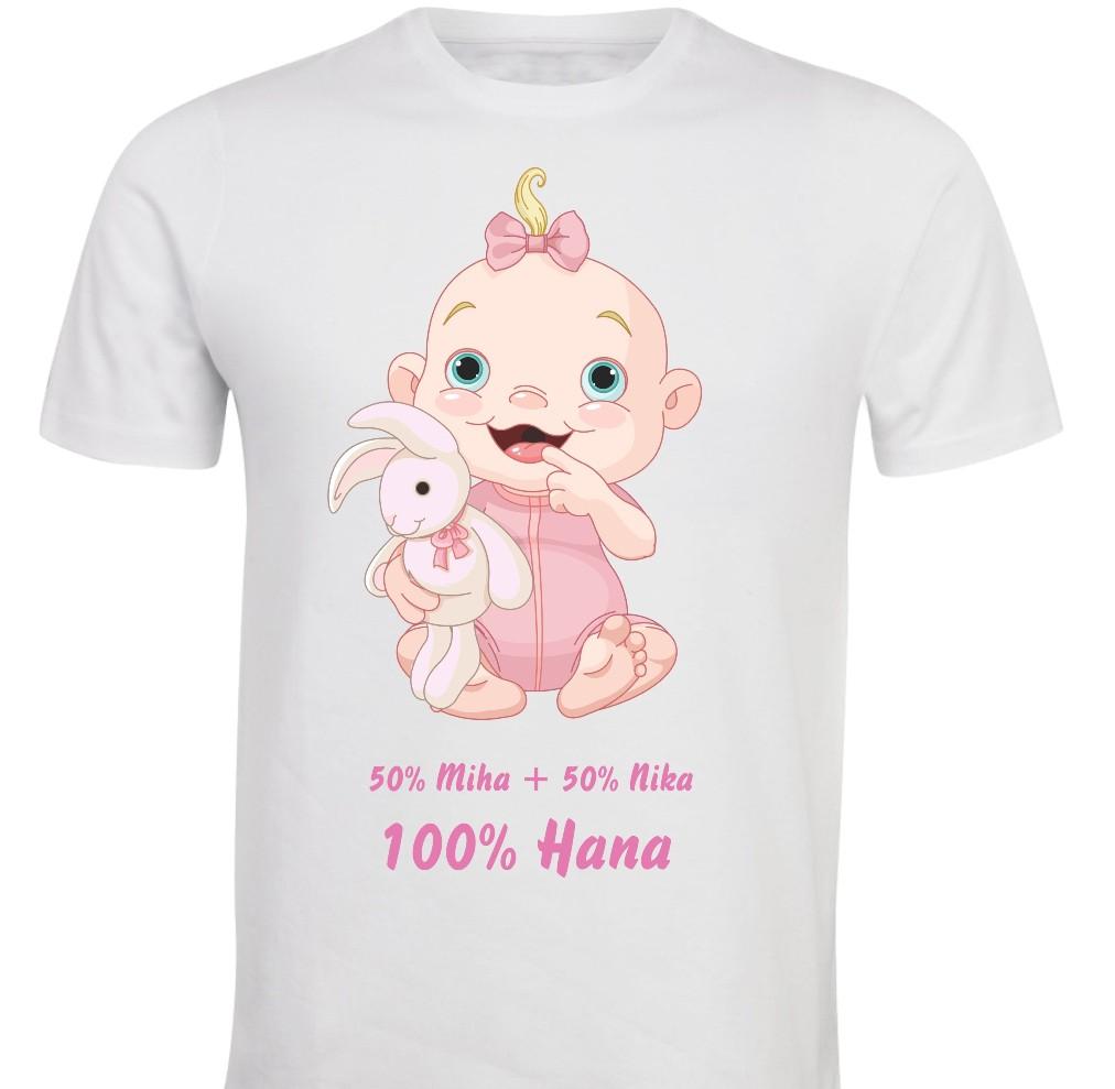Otroška majica -50 % + 50% = 100% punčka