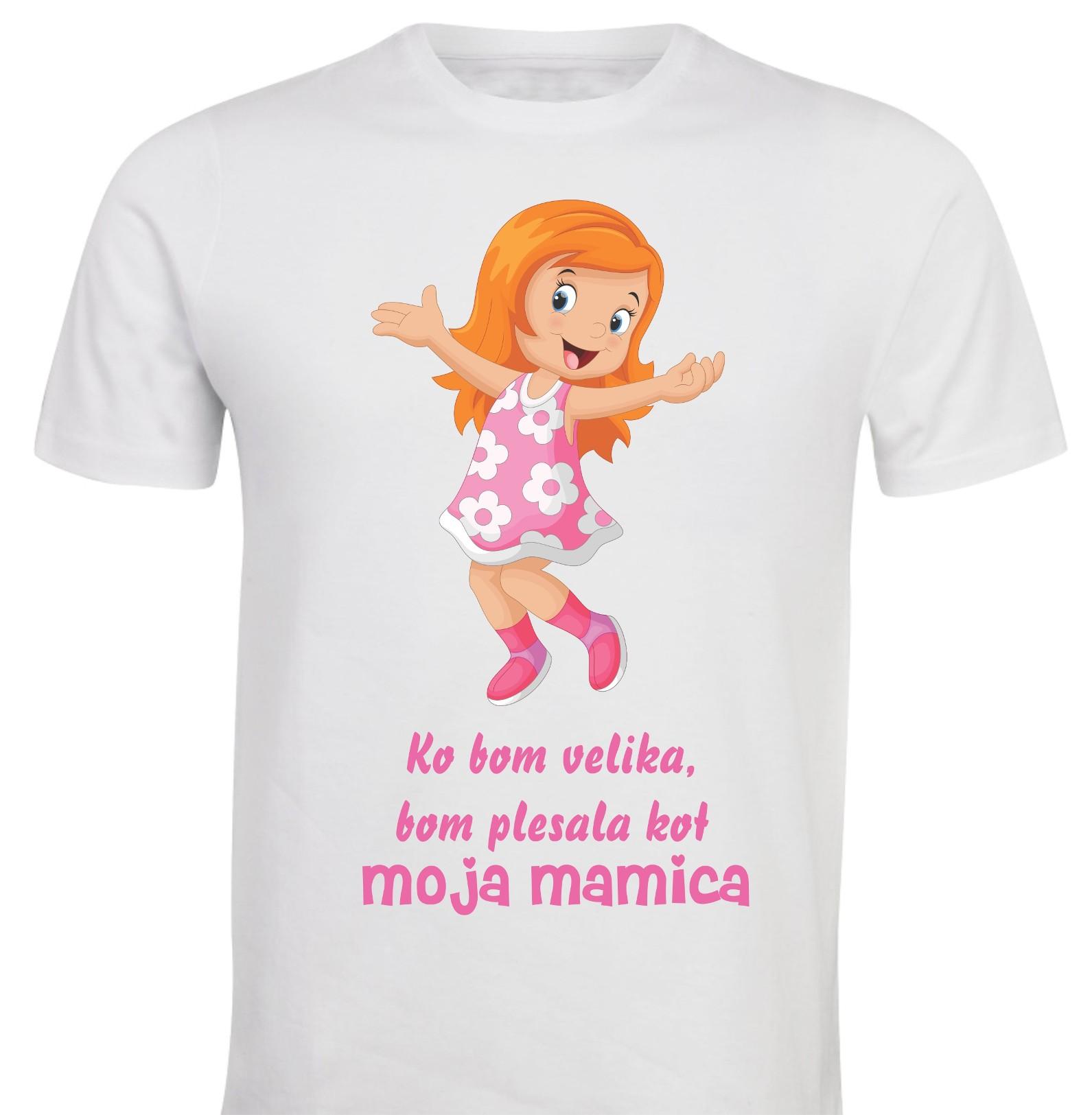 Otroška majica -ko bom velika bom plesala