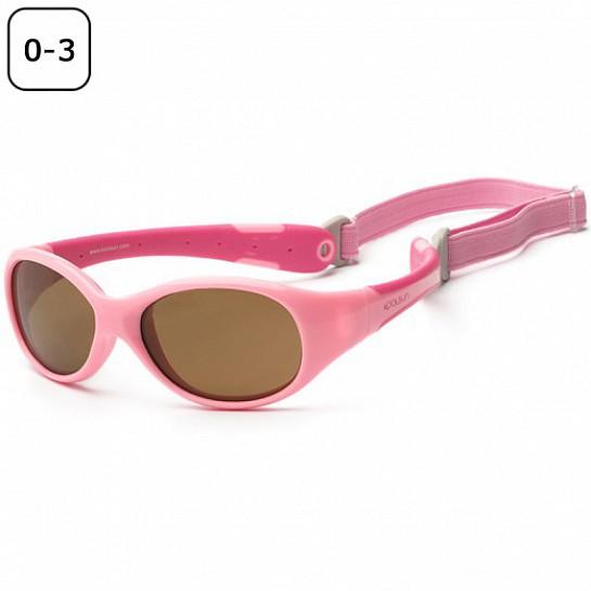 Otroška sončna očala Kulsun flex pink - hot pink (0-3 let)