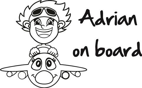 nalepka otrok v avtu avion