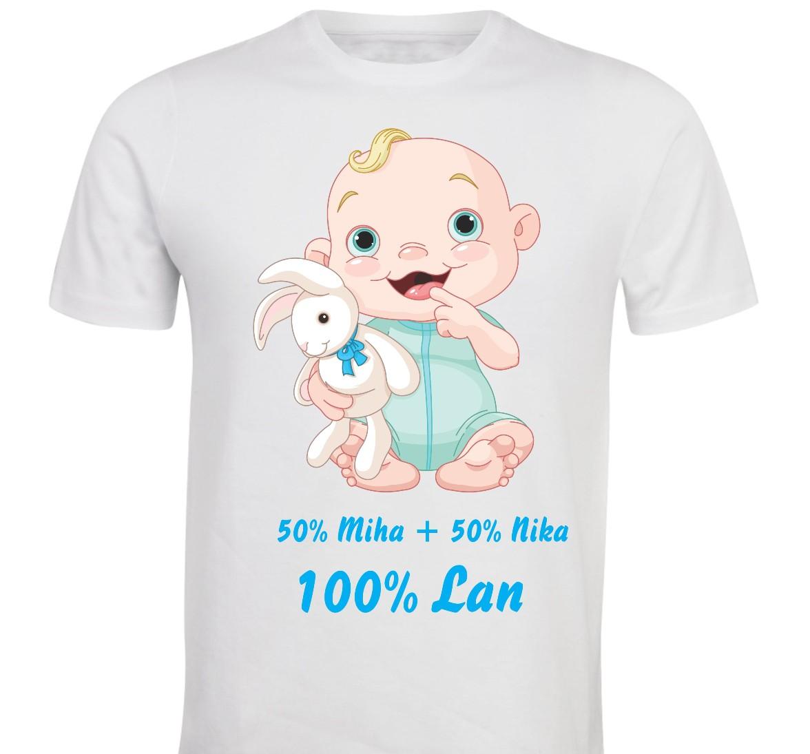 Otroška majica -50 % + 50% = 100% fant