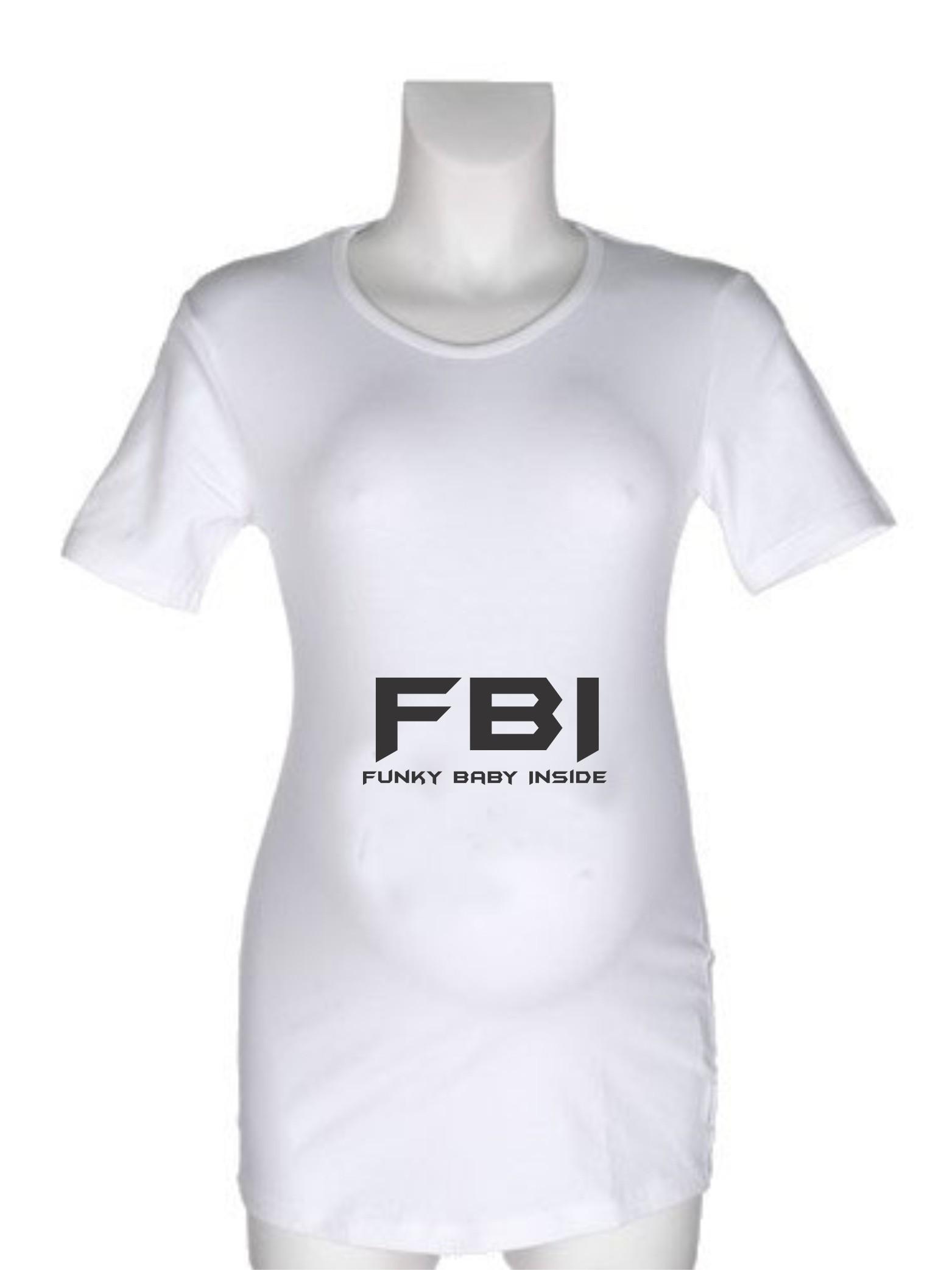 Nosečniška majica z napisom – Funky Baby Inside