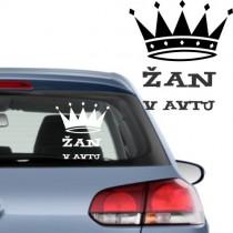 Nalepka za avto - krona