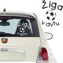 Nalepka za avto - nogometna žoga