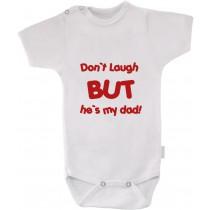 otroški body za otroka s smešnim očkom