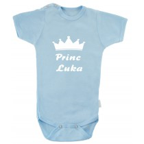 otroški body s krono - princ
