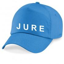 Svetlo modra kapa z imenom s šiltom za odrasle