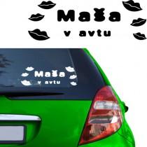 Nalepka za avto - poljub