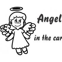 nalepka otrok v avtu angel