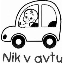 nalepka otrok v avtu jaz pa vozim avto