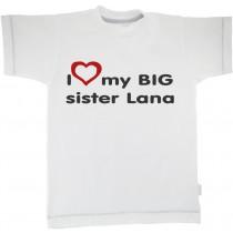 Otroška majica z napisom - big sister