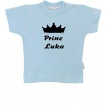 Otroška majica z napisom - princ
