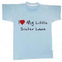 Otroška majica z napisom - little sister