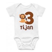Otroški body rojstni dan lev