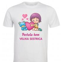 Otroška majica - postala bom velika sestrica