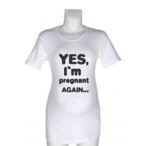 Nosečniška majica z napisom– Pregnant again