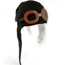 Otroška kapa pilot črna