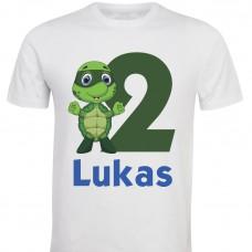 Otroška majica - rojstni dan želvica