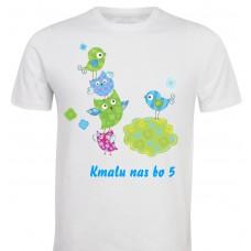 Otroška majica - kmalu bomo 4 ali 5