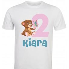 Otroška majica - rojstni dan medvedka