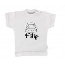 Otroška majica z napisom - torta