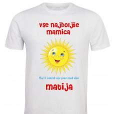 Otroška majica - sonček rad te imam