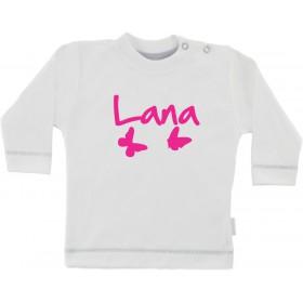 Otroška majica z napisom - metulji