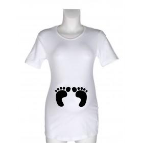Majica za nosečnice z napisi - Nogice