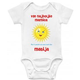 Otroški body mamica/ oči/ teta..  vse najboljše