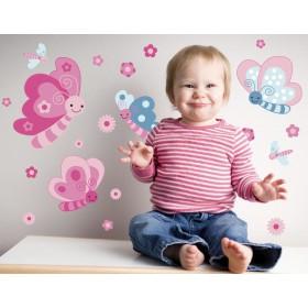 otroške stenske nalepke za steno - metulji