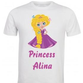 Otroška majica -princeska z metuljčki