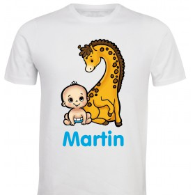 Otroška majica - baby z zirafko