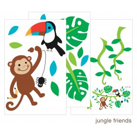 Otroške stenske nalepke - opica
