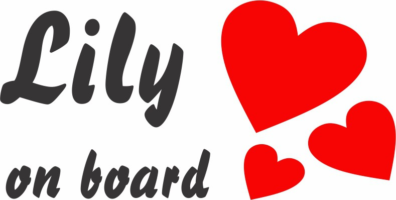 Baby on board hearts