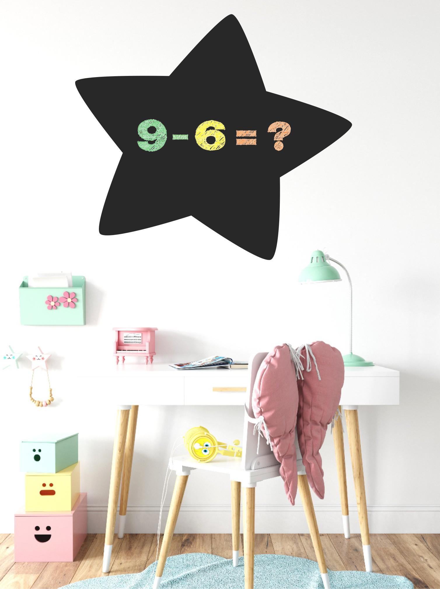 Chalkboard sticker - star
