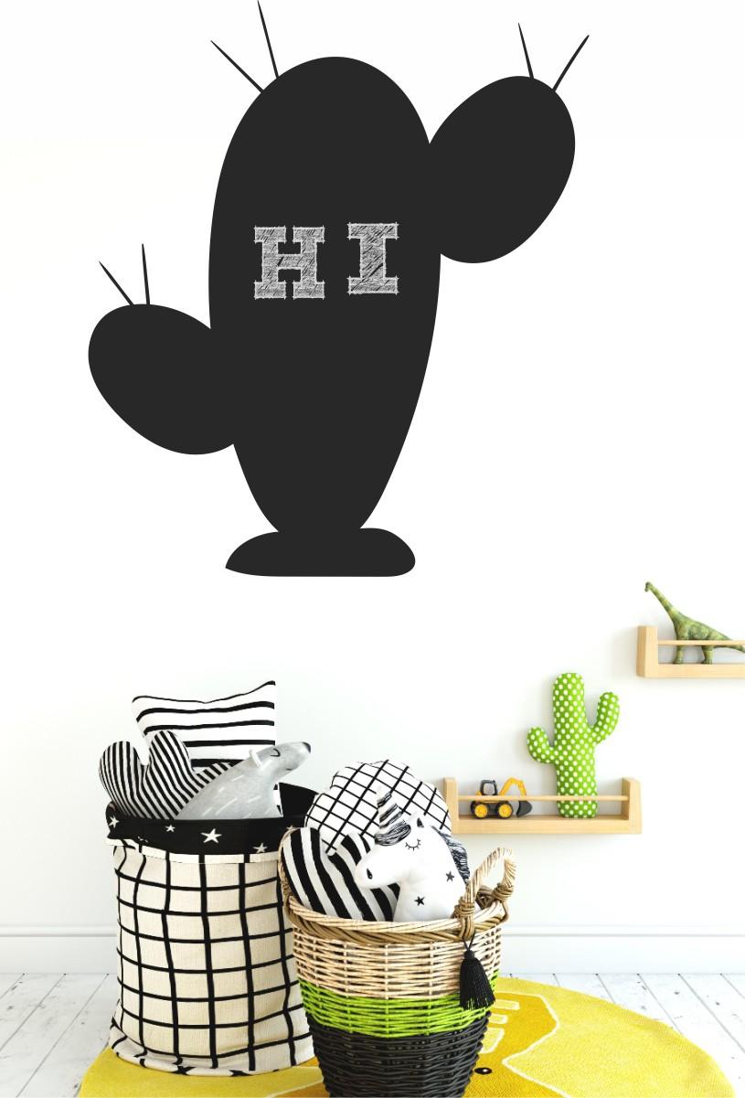 Chalkboard sticker - cactus