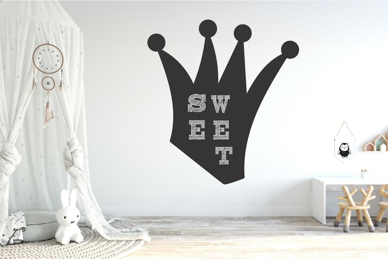 Chalkboard sticker - crown